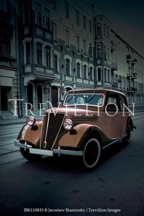 Jaroslaw Blaminsky RETRO CAR OUTSIDE BUILDINGS IN CITY Cars