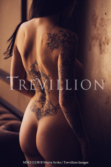 Marta Syrko NAKED WOMAN WITH TATTOOS FROM BEHIND Women