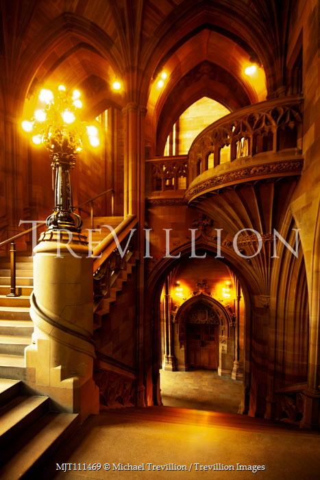 Michael Trevillion Grand hallway lit at night Houses
