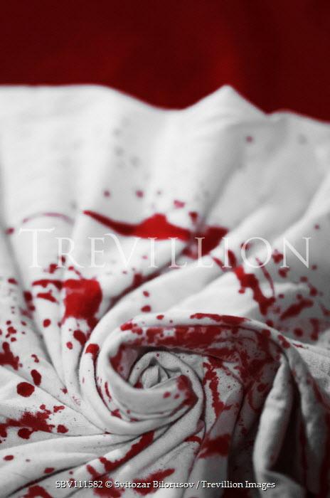 Svitozar Bilorusov Blood on white sheet