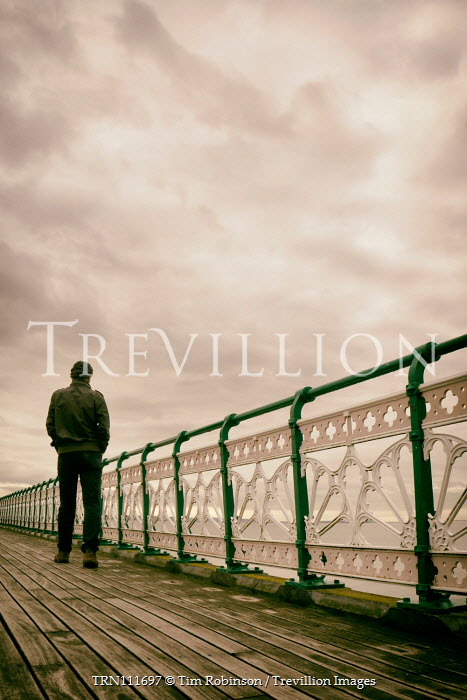 Tim Robinson Man standing on pier Men