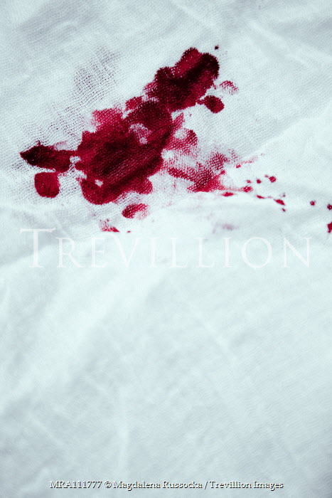 Magdalena Russocka close up of bloodstained cloth Miscellaneous Objects