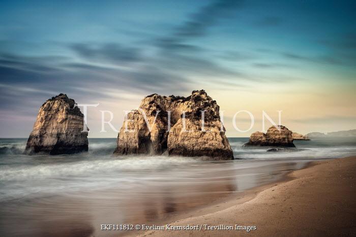 Evelina Kremsdorf ISLAND CLIFFS WITH SANDY BEACH Seascapes/Beaches