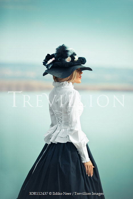 Ildiko Neer Historical woman standing at lake