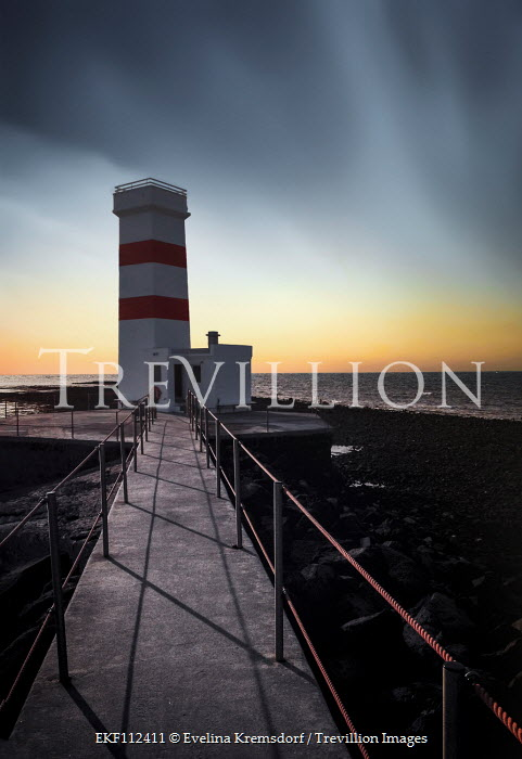 Evelina Kremsdorf Lighthouse at sunset Miscellaneous Buildings