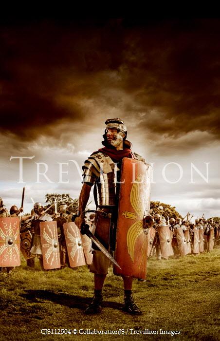 CollaborationJS A roman centurion commanding his troops Men
