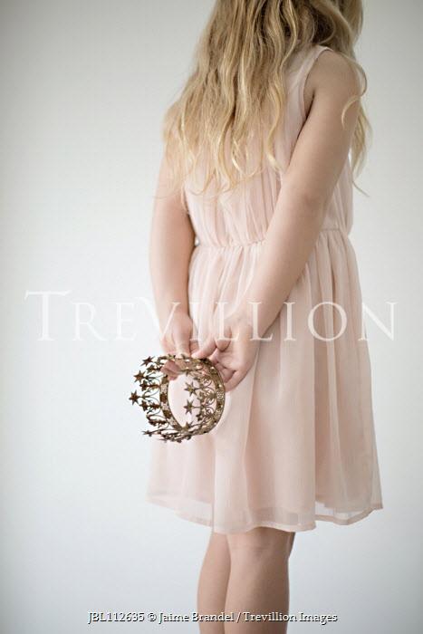 Jaime Brandel Girl in pink dress holding crown Children