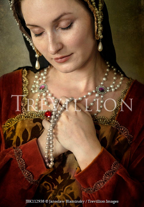 Jaroslaw Blaminsky TUDOR WOMAN WITH PEARL HEADDRESS Women