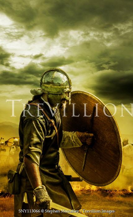 Stephen Mulcahey Medieval warriors on the battlefield