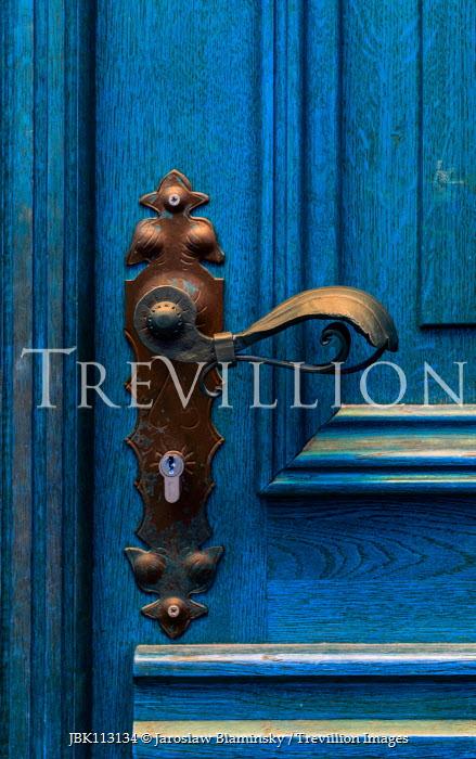 Jaroslaw Blaminsky BLUE DOOR WITH DECORATIVE HANDLE Building Detail