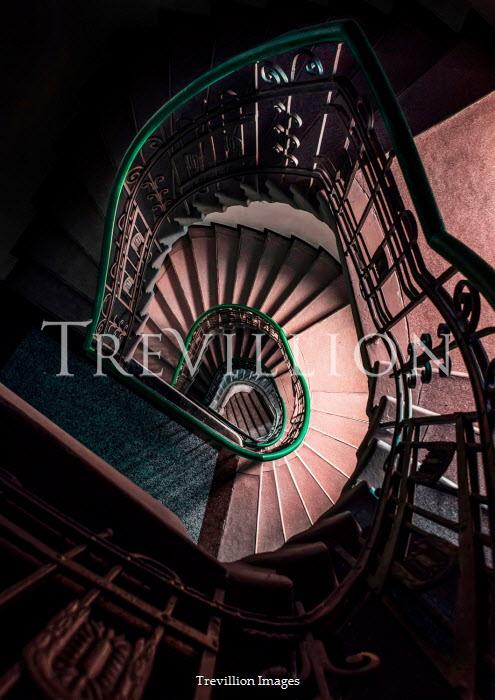 Jaroslaw Blaminsky ORNATE STAIRCASE FROM ABOVE Stairs/Steps