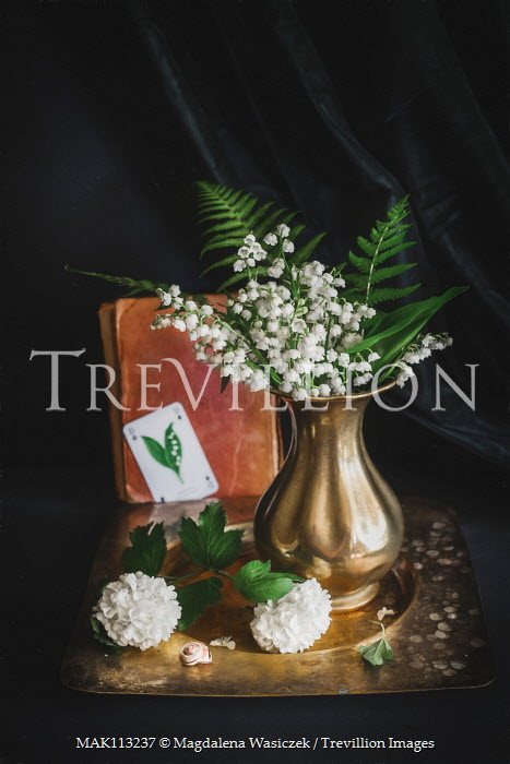 Magdalena Wasiczek Lily of the valley bouquet and various items
