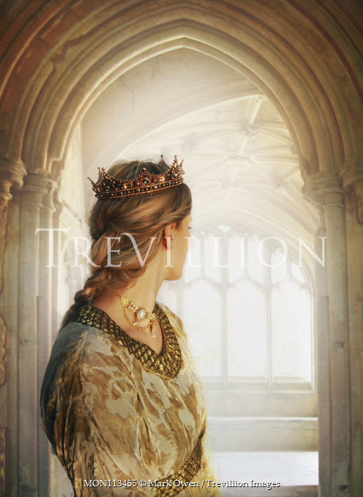 Mark Owen Young woman with crown looking out window