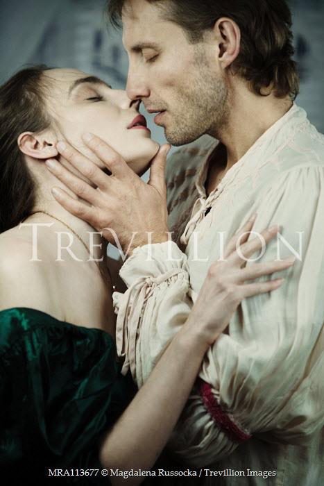 Magdalena Russocka historical couple kissing inside