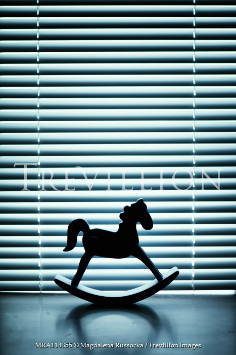 Magdalena Russocka silhouette of toy rocking horse by blinds Miscellaneous Objects