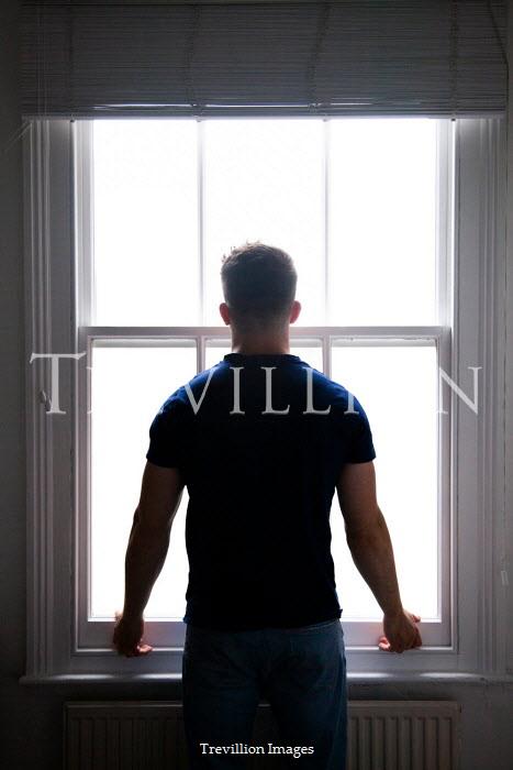 Miguel Sobreira MAN WATCHING AT WINDOW FROM BEHIND Men