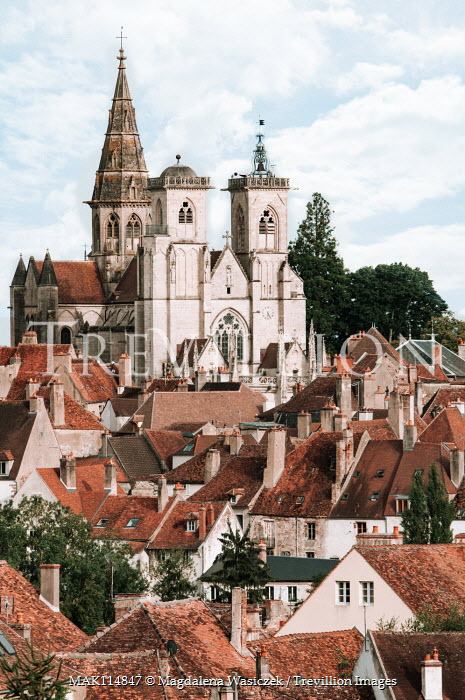 Magdalena Wasiczek CATHEDRAL IN TOWN WITH TERRACOTTA ROOFS Religious Buildings