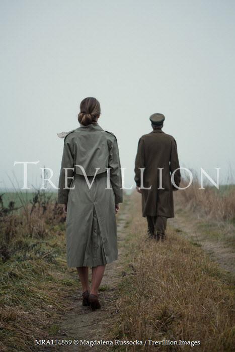Magdalena Russocka wartime couple in misty field