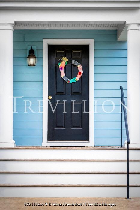 Evelina Kremsdorf Flip flop wreath hanging on door