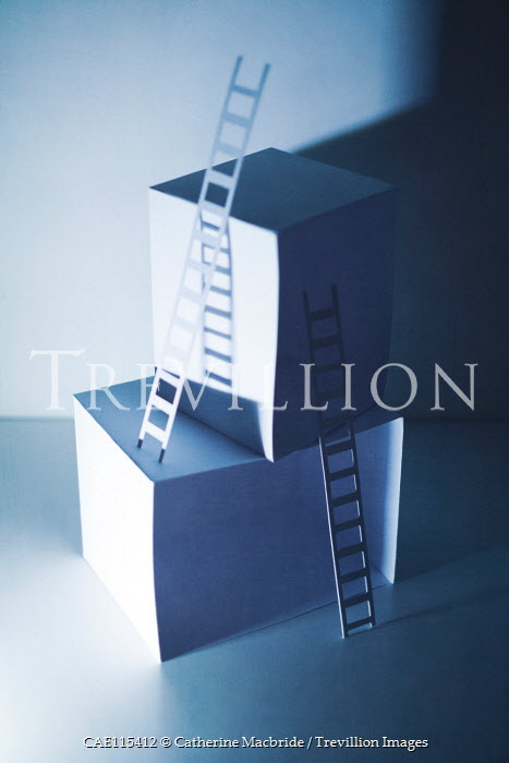 Catherine Macbride Paper craft ladders on cubes