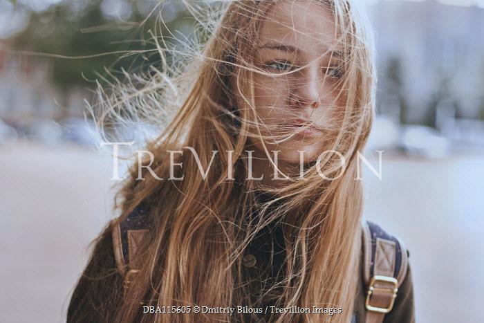 Dmitriy Bilous Teenage girl in wind