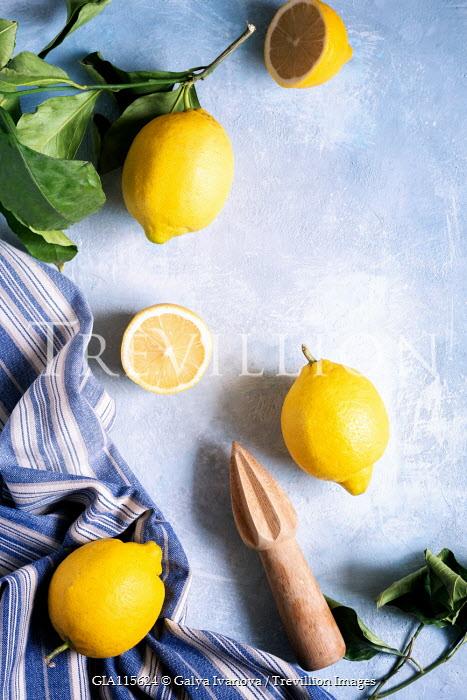Galya Ivanova Lemons with towel and citrus reamer