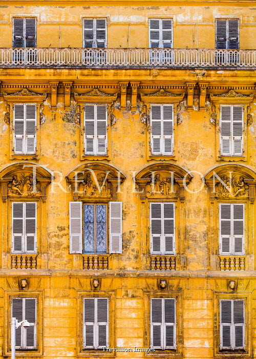 Maggie McCall Facade of yellow building in Nice, France