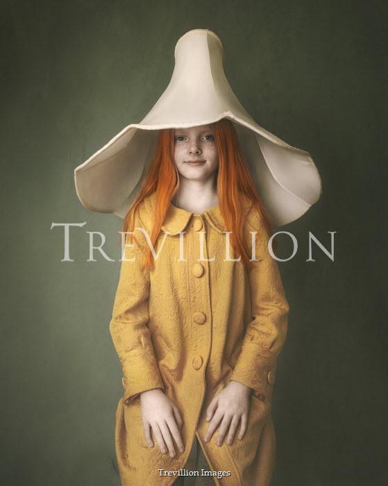 Anna Buczek Girl in yellow dress and lampshade