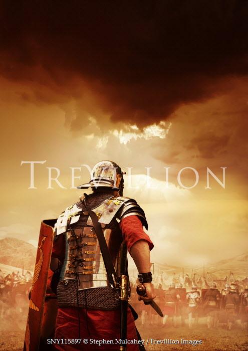 Stephen Mulcahey Roman centurion on battlefield