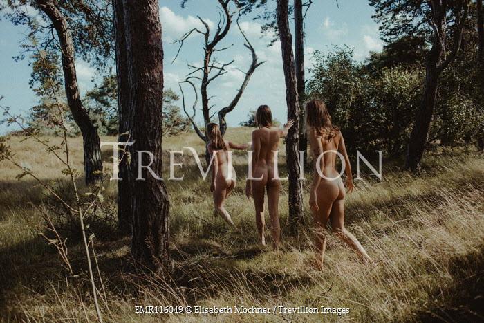 Elisabeth Mochner Naked women walking in forest