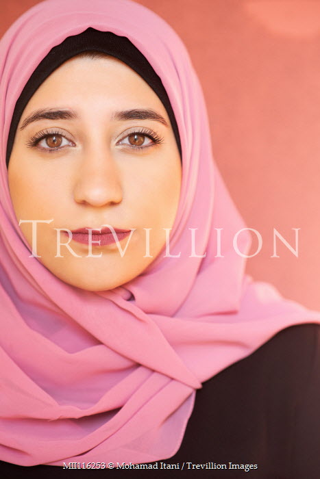 Mohamad Itani Young woman in pink headscarf