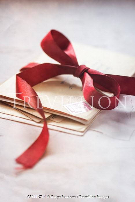 Galya Ivanova Envelopes and red ribbon bow