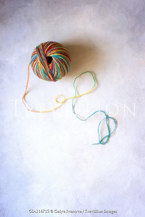 Galya Ivanova Colorful string on white background