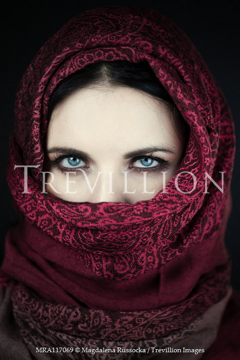 Magdalena Russocka woman in headscarf