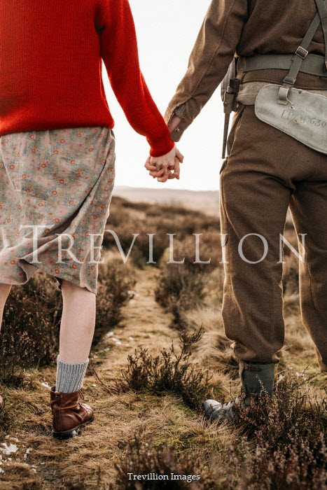 Shelley Richmond WARTIME COUPLE HOLDING HANDS IN COUNTRYSIDE Couples