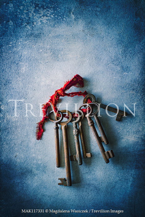 Magdalena Wasiczek bunch of old keys with red ribbon Miscellaneous Objects