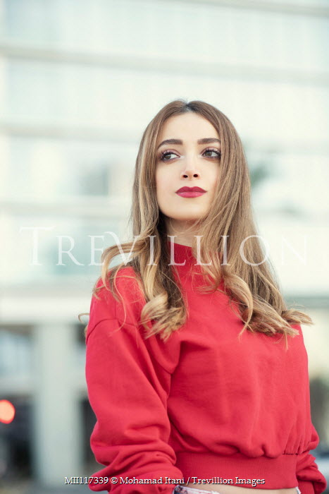 Mohamad Itani GIRL IN RED TOP STANDING IN CITY Women