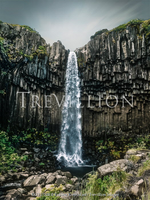 Evelina Kremsdorf Svartifoss waterfall in Iceland