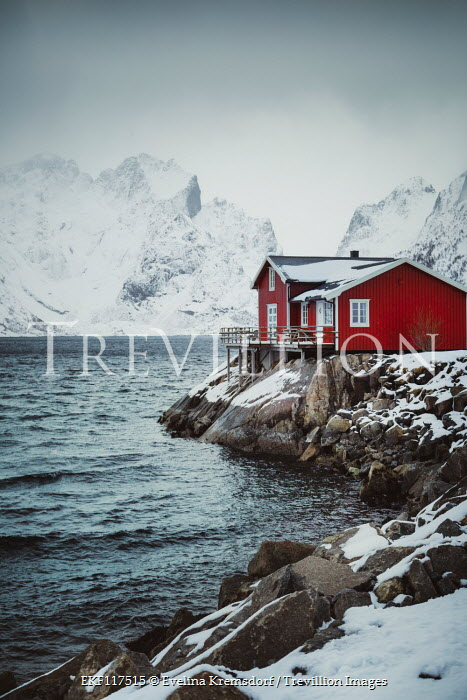 Evelina Kremsdorf Fishing hut by sea in Norway
