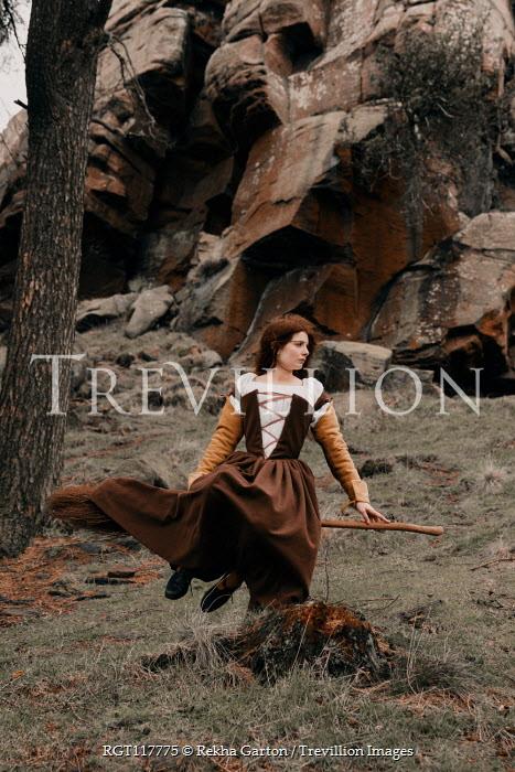 Rekha Garton Witch sitting on broomstick