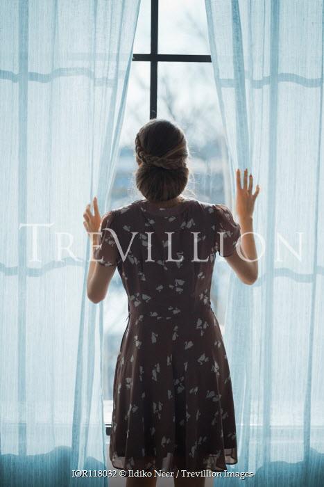 Ildiko Neer Vintage woman looking out window