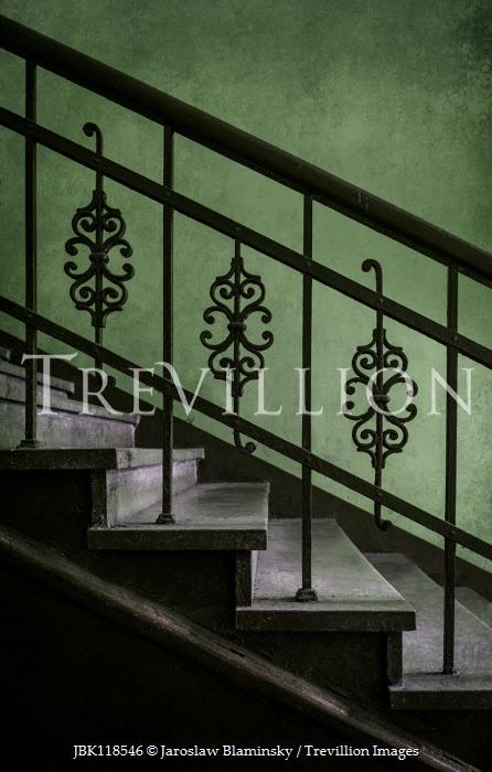 Jaroslaw Blaminsky CLOSE UP OF ORNATE METAL STAIRCASE Stairs/Steps