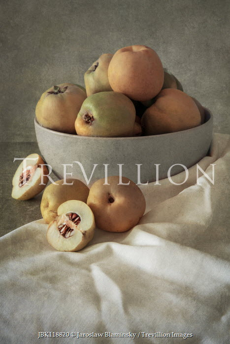 Jaroslaw Blaminsky BOWL OF FRUIT WITH WHITE TABLECLOTH Miscellaneous Objects