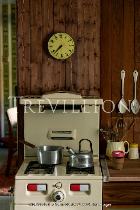 Colin Hutton 1950S KITCHEN WITH COOKER Interiors/Rooms