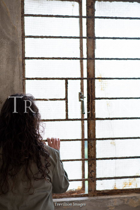 Mohamad Itani GIRL WATCHING AT WINDOW WITH BARS Women