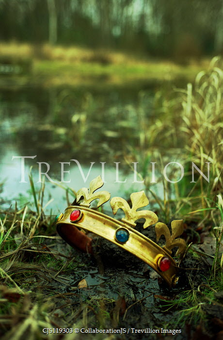 CollaborationJS GOLDEN CROWN LYING BY LAKE Miscellaneous Objects