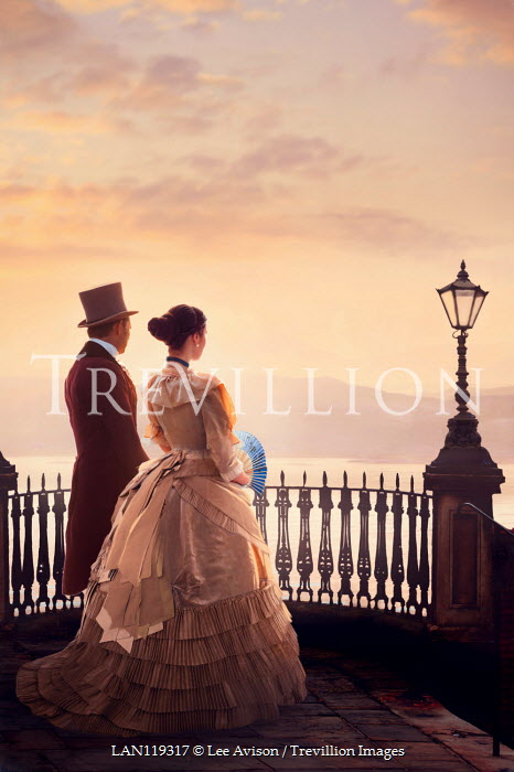 Lee Avison victorian couple at sunset