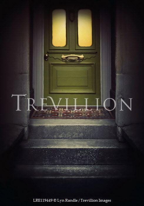Lyn Randle Steps and green door