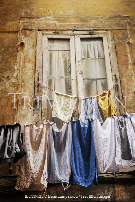 Irene Lamprakou Clothesline outside apartment window Building Detail