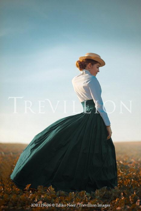 Ildiko Neer Historical woman standing in countryside Women